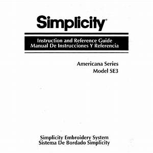 Instruction Manual  Simplicity Se3   Sewing Parts Online