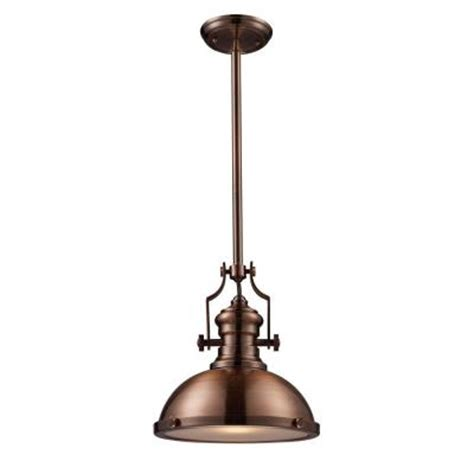 titan lighting chadwick 1 light antique copper ceiling