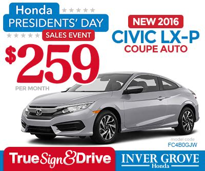 New Honda Civic Lease Special Mn