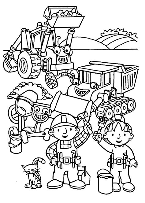 bob the builder coloring pages bob the builder coloring pages to and print for free