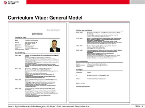 german resume template in application in germany eng