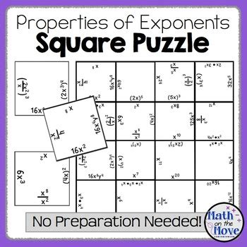 exponents puzzle ee  math   move teachers