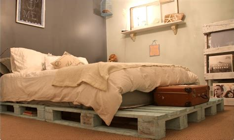 Pallet Bed Frame by Diy Pallet Bed Ideas And Plans Pallets Designs