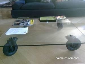 Roue Table Basse : table basse en verre tremp ~ Teatrodelosmanantiales.com Idées de Décoration