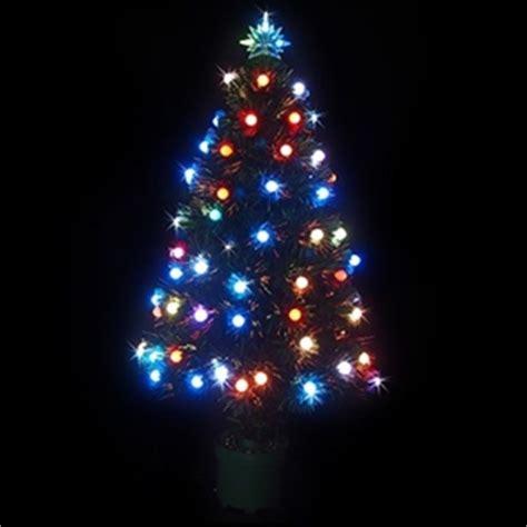 buy 90cm led fibre optic christmas tree multi