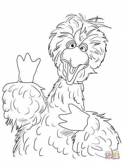 Coloring Bird Sesame Pages Street Printable Count