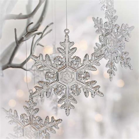 clear acrylic snowflake ornaments christmas ornaments