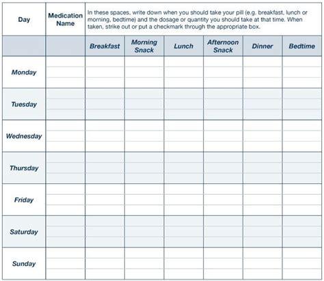 printable daily animal pill chart template talk