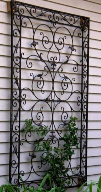 garden wrought iron decor plants and garden decor