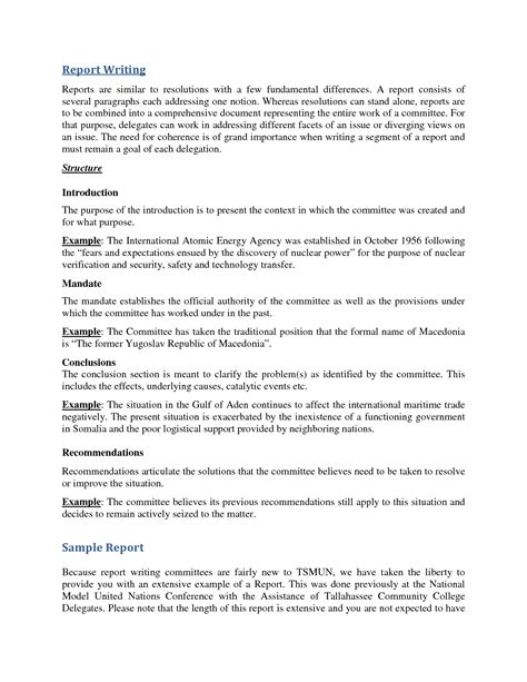 sample  report business report letter