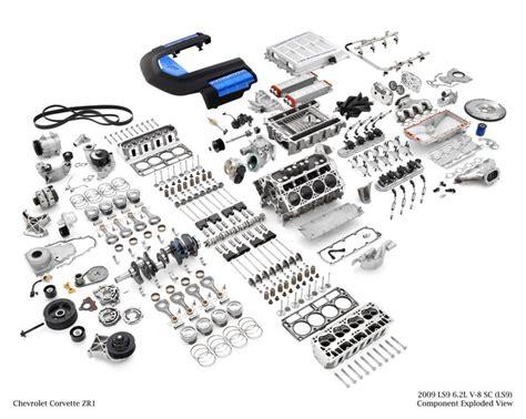 Corvette Zr1 Ls9 Supercharged 6.2l V8 Engine, Exploded