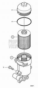 Volvo Penta Exploded View    Schematic Fuel Filter Housing