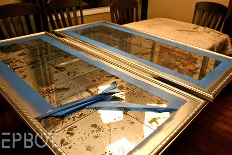 Diy Antiqued Mirror Wall Panels (or,
