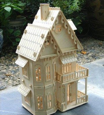 puzzle model wooden jigsaw miniature doll house