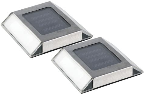 nature power solar powered stainless steel pathway lights