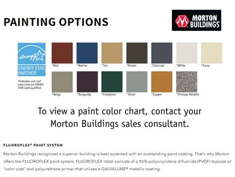 mbci color chart metal roof and standing seam metal roof products