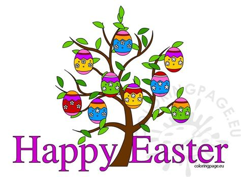 Free Easter Clip Happy Easter Clip Free Coloring Page