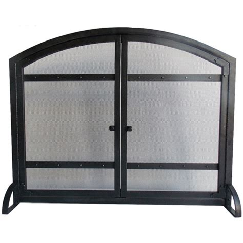 fireplace screens walmart pleasant hearth arched fireplace screen with doors