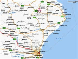 North East Scotland Map