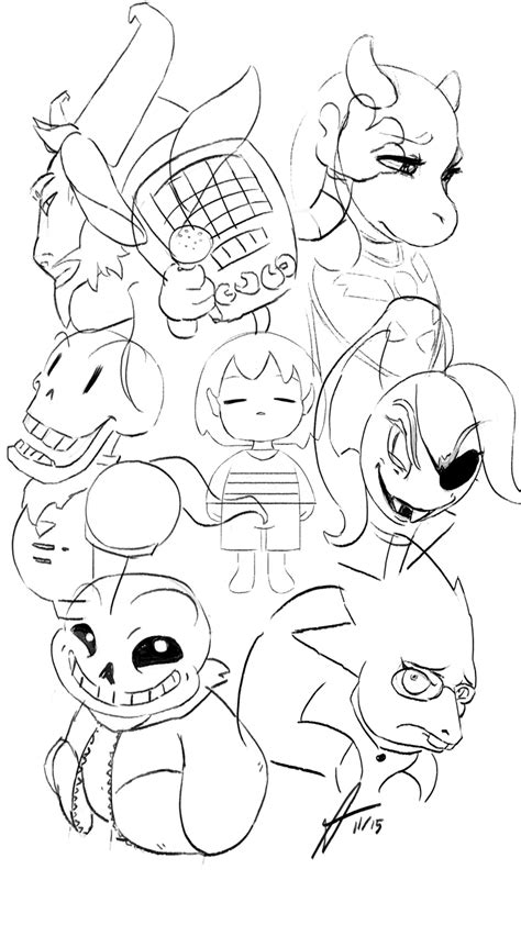 undertale characters coloring pages coloring pages