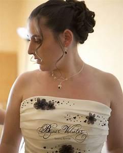 mariage original marron avec bijoux de mariee fin avec With les robes de mariage avec bijoux en perles