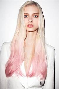 White Blonde Hair with Light Pink Ombre. #Hair | girl ...