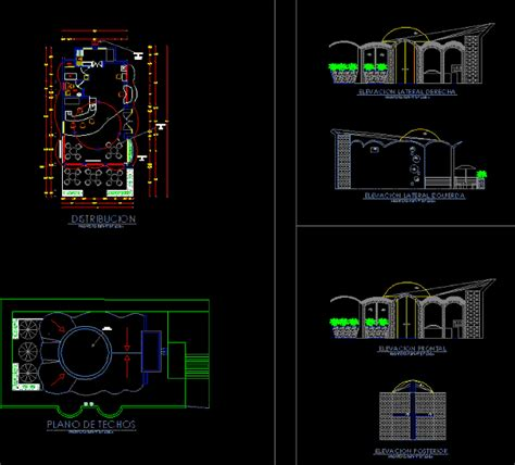 soda fountain project dwg full project  autocad