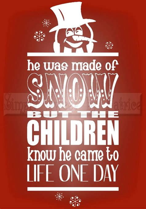 frosty  snowman quotes quotesgram