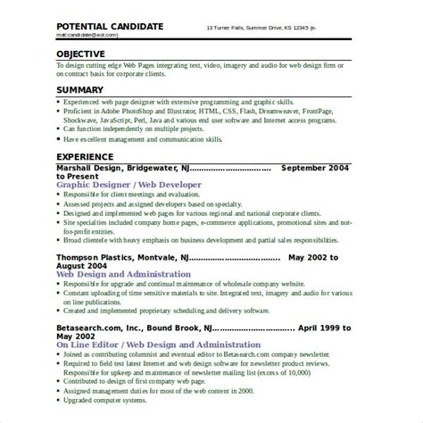 Web Developer Resume Sle For Freshers by Modern Resume Templates 42 Free Psd Word Pdf Document