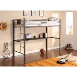 Futon Bunk Bed Walmart by Silver Screen Twin Loft Bed With Desk Walmart Com