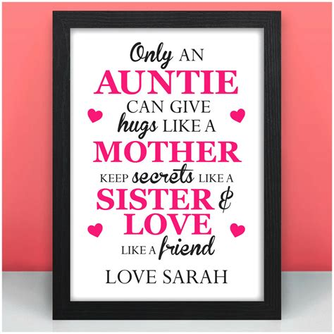 3.0 out of 5 stars. Only An Auntie PERSONALISED Birthday Gifts for Auntie Aunt ...