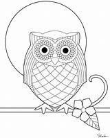 Owl Coloring Embroidery Owls Printable Pages Pattern Sheet Sheets Sized Version Colouring Template Cute Mandala Print Patterns Colour Adults Designs sketch template