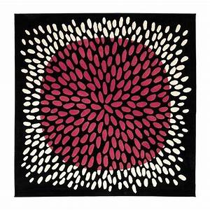 Ikea tradklover 6 7 quotespace tapis carre noir rose blanc for Tapis carré ikea