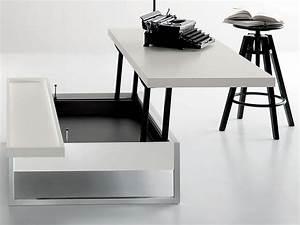 Adone Tavolino da salotto trasformabile in scrivania, diverse finiture Sediarreda