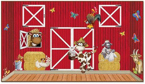 Red Barn Insta-theme, Farm Backdrops, Backgrounds & Props