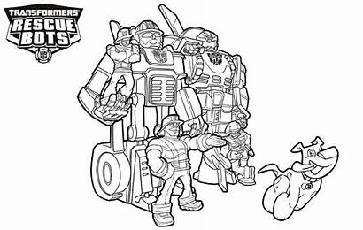 Rescue Bots Coloring Transformers Pages Characters Printable