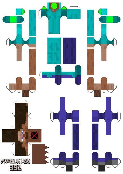papercraft advanced bendable steve paper crafts
