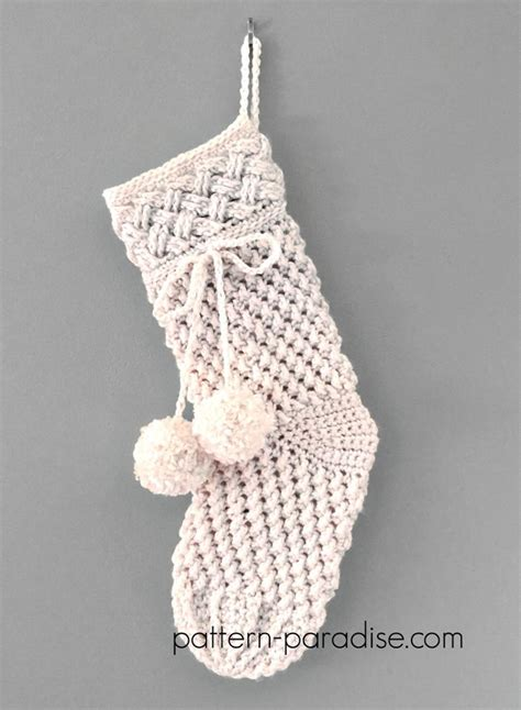 crochet christmas stocking patterns full  holiday spirit