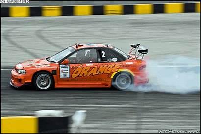 Drift Crash Orange Team D1gp 350z Nissan