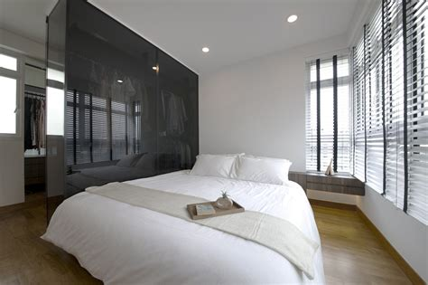 hdb master bedroom design singapore house tour 70 000 renovation cost for this all white hdb 18853