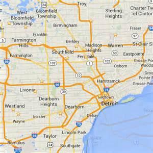 Southeast Michigan City Map