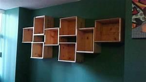 DIY how to make a WINE BOX BOOK SHELF - YouTube
