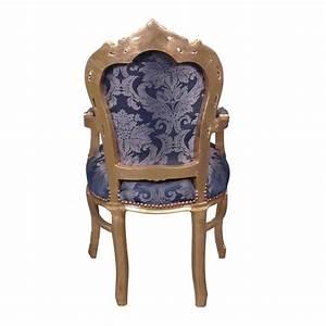Chaise Style Baroque : fauteuil baroque bleu style rococo ~ Teatrodelosmanantiales.com Idées de Décoration