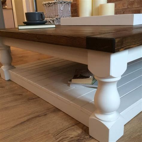 This post contains affiliate links. Large Square Handmade Solid Pine Farmhouse Coffee Table   Pine coffee table, Solid pine, Table