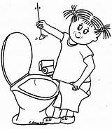 Training Coloring Toilet sketch template