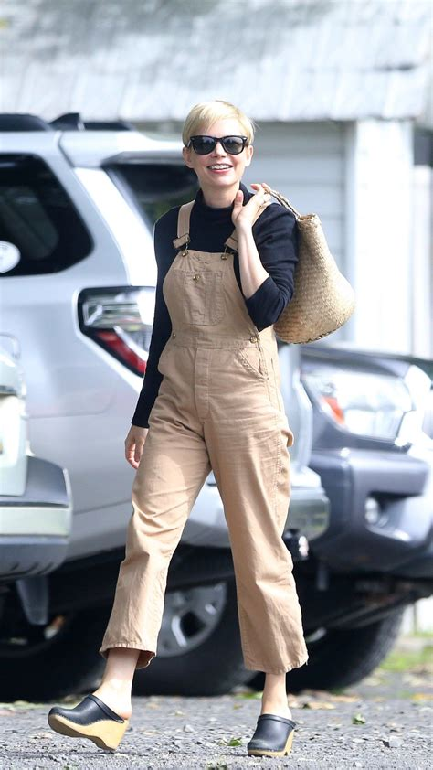 Overall Michele williams shows how to wear overalls as an