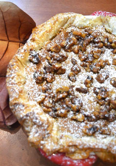 pumpkin pie with walnut crust pumpkin pie with a phyllo crust and crunchy maple walnuts sadie s kitchen table