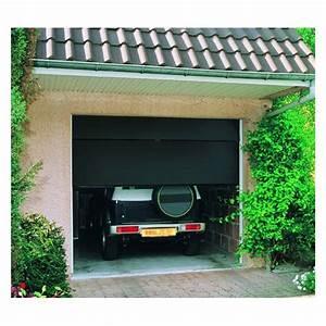 Porte de garage sectionnelle motorisee 200x300 cm gris for Porte de garage sectionnelle 200 300