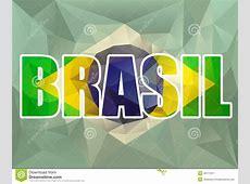 Brasil Letters With Brazilian Flag Stock Vector