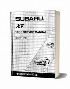 Subaru Xt 1988 Service Manual